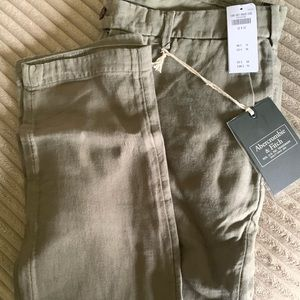 Abercrombie & Fitch linen pants 32x32 NWT